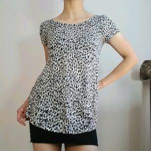 Gina Tricot Animal Print Top Short Sleeve